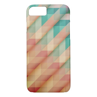 Peach and Green Abstract Geometric iPhone 8/7 Case