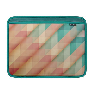 Peach and Green Abstract Geometric Sleeve For MacBook Air