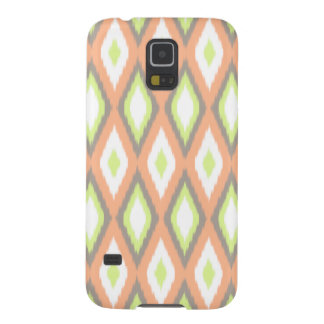 Peach and Green Ikat Pattern Galaxy S5 Covers