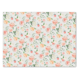Peach and Pink Feminine Floral Pattern Tissue Paper