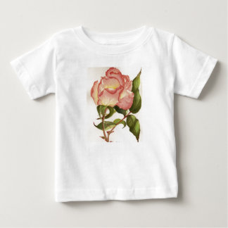 Peach and pink rose t-shirt