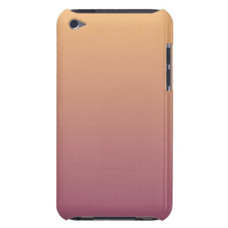 Peach and Plum Ombre Gradient Barely There iPod Case