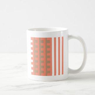 Peach and Tan Combs Tooth Coffee Mug