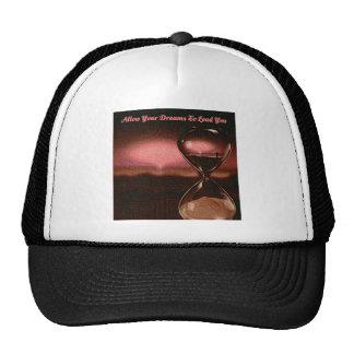 Peach Artsy Sunrise With Hourglass & Saying Trucker Hat