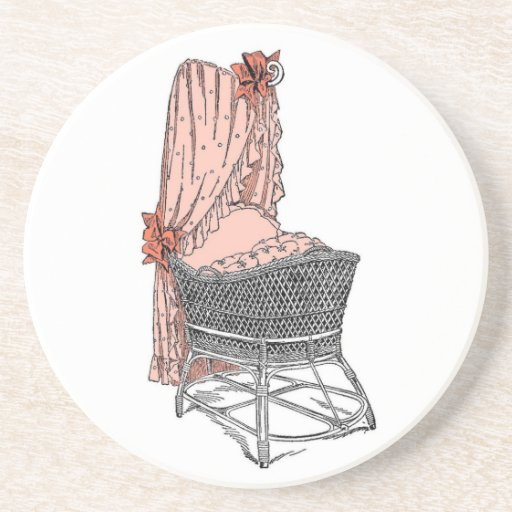 Peach Baby Bassinet Coaster