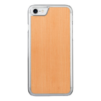 Peach Bamboo Wood Grain Look Carved iPhone 7 Case