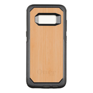 Peach Bamboo Wood Grain Look OtterBox Commuter Samsung Galaxy S8 Case