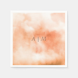 Peach Bellini | Watercolor Personalized Napkin Paper Napkin