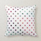 Peach Berry Teal Polka Dots Throw Pillow