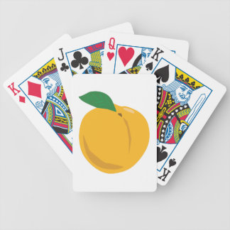Peach Bicycle Playing Cards