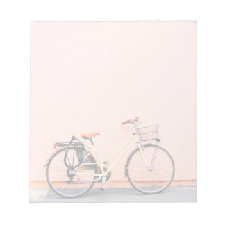 Peach Bike Basket Bicycle Two Wheel Notepad