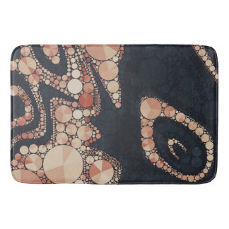 Peach Black Bling Abstract Bathroom Mat