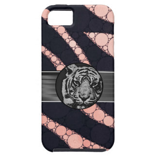 Peach Black Zebra Black Tiger Case For The iPhone 5