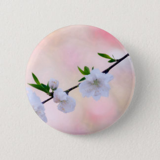 Peach Blossom 2 Inch Round Button