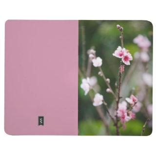 Peach blossom flower seasonal notebook. journals