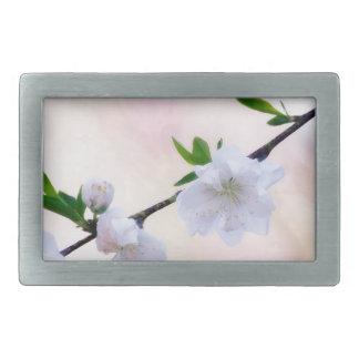 Peach Blossom Rectangular Belt Buckle