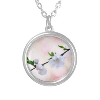 Peach Blossom Silver Plated Necklace