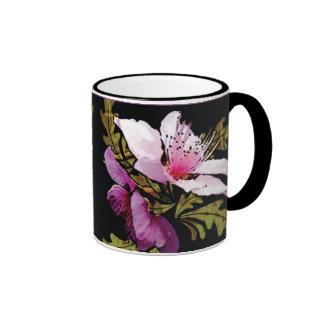 Peach blossoms floral mug