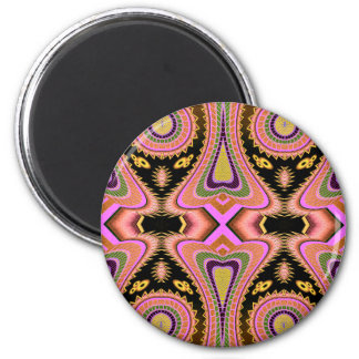 Peach Blowfish Groovy Moves 2 Inch Round Magnet