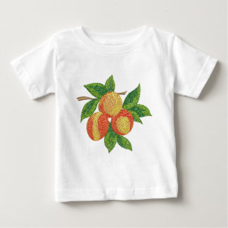 peach branch, imitation of embroidery baby T-Shirt