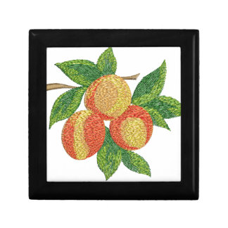 peach branch, imitation of embroidery gift box