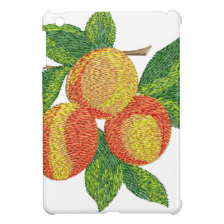 peach branch, imitation of embroidery iPad mini cover