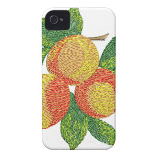 peach branch, imitation of embroidery iPhone 4 case