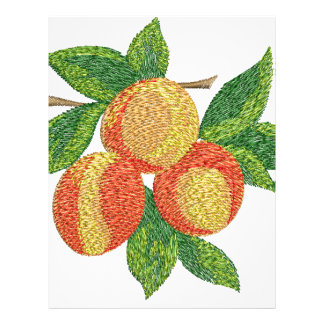 peach branch, imitation of embroidery letterhead