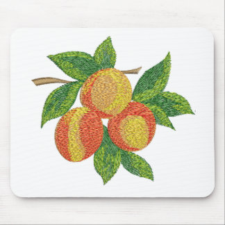 peach branch, imitation of embroidery mouse pad
