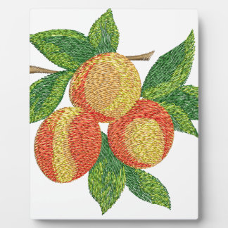 peach branch, imitation of embroidery plaque