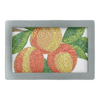 peach branch, imitation of embroidery rectangular belt buckle