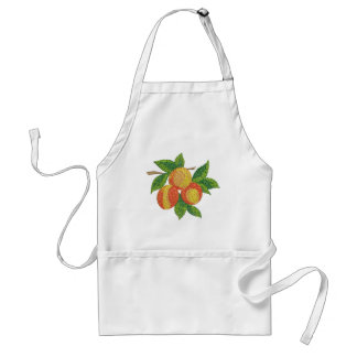 peach branch, imitation of embroidery standard apron