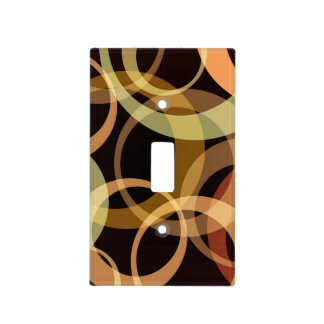 Peach & Brown Circles Light Switch Plates