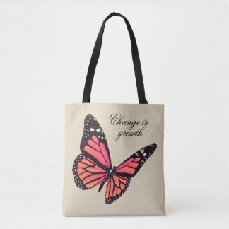 Peach Butterfly Tote