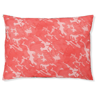 Peach Camo Large Dog Bed
