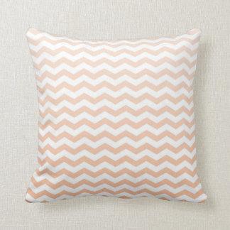 Peach Chevron Throw Pillow