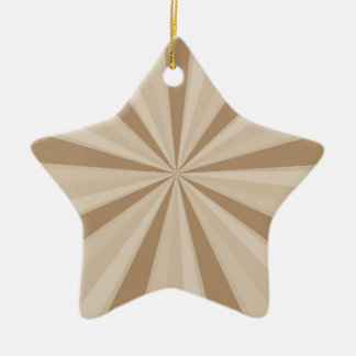 Peach Cream Sunburst Ceramic Star Ornament