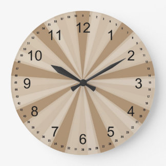 Peach Cream Sunburst Clock