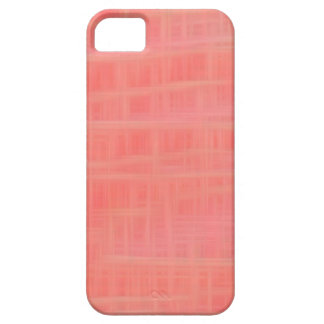 Peach criss cross iPhone 5 cover