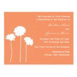 Peach Daisy Invitation Postcard