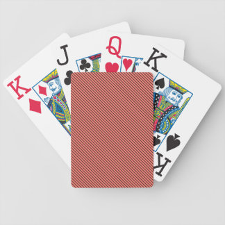 Peach Echo and Black Stripe Bicycle Playing Cards