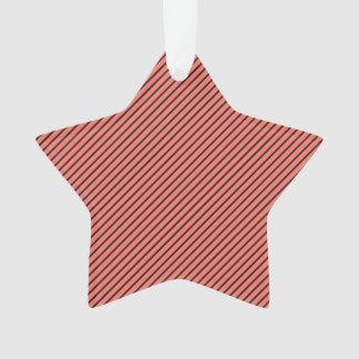 Peach Echo and Black Stripe Ornament