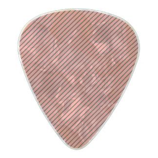 Peach Echo and Black Stripe Pearl Celluloid Guitar Pick