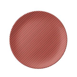 Peach Echo and Black Stripe Plate