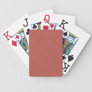 Peach Echo and Black Stripe Poker Deck