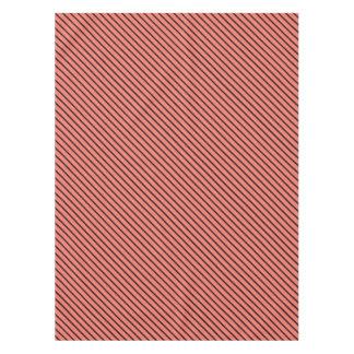 Peach Echo and Black Stripe Tablecloth