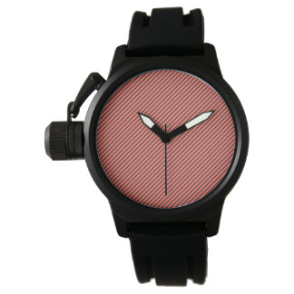 Peach Echo and Black Stripe Watch