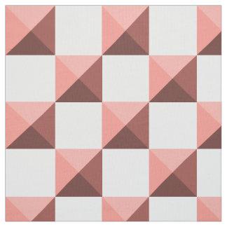Peach Echo Pyramid Illusion Checkerboard Fabric