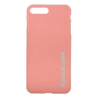 Peach Echo Soft Orange Coral Solid Color Custom iPhone 7 Plus Case