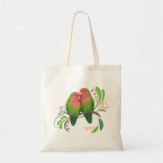 Peach Faced Love Birds Tote Bag